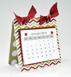 2014 Calendar ~ Stampin' Up supply list for Coaster Calendar.