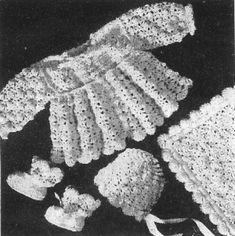 Alice Fowler Crocheted Baby Set 1191