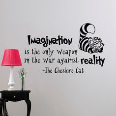 Looking for inspiration or just of fun quote? Get this Alice In Wonderland inspired Wall Sticker Decal from the Cheshire Cat! Various sizes ON SALE NOW! Specification: Single-piece Package Materials: