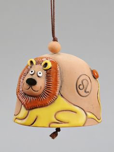 LION BELL Ceramic Decor, Ceramic Pottery, Ceramic Art, Christmas Bells, Christmas Ornaments, Pottery Designs, Bird Drawings, Paper Clay, Clay Creations