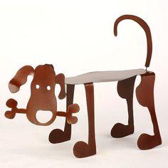 Bone Dog Garden Art Sculpture by EarthStudioMetalArt on Etsy, $39.00