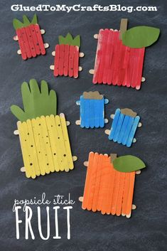 Popsicle Stick Fruit - Kid Craft