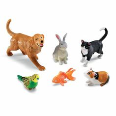 Learning Resources Jumbo Domestic Pets - Bring home your child with pets of their own with the Learning Resources Jumbo Domestic Pets . These jumbo pets are realistically detailed and invite. Plastic Animals, Large Animals, Animals Dog, Jungle Animals, Pet Pigs, Guinea Pigs, Mobiles, Pets Online, Pembroke Welsh Corgi