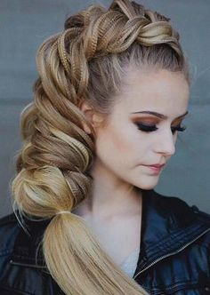 100 Trendy Long Hairstyles for Women: Loose Dutch Fishtail Braid