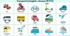 영어 교통 수단 - 영어로 운송. 영어 교통 수단. Means of transportation in English and Korean