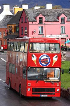 Awesome double decker bus converted in a cafe!