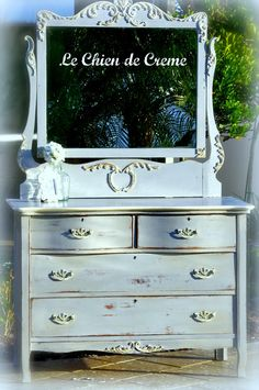 paris gray and old white chalk paint