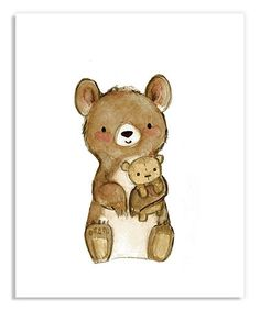 Look at this #zulilyfind! Teddy Bear Love Print by trafalgar\'s square #zulilyfinds