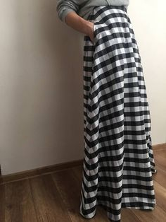 JanesDresses / sukňa šachovej dámy