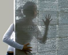 Transparent (translucent) Concrete. The Hungarian architect who invented it Áron Losonczi and holds the patent for it. On the homepage of his company LiTraCon transparent panels can be ordered in varying degrees. The concept is interesting because it opens up new uses for concrete. The inventor asserts that allow the concrete embedded glass fiber elements to meter-thick concrete that is more transparent.