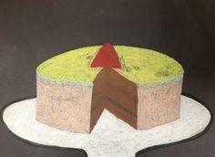 ARTipelago: 5th grade class, pastel drawing, Wayne Thiebaud lesson