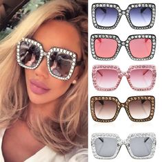 cac53c2337 Dazzling Over sized Square Sunglasses Sunglass Frames