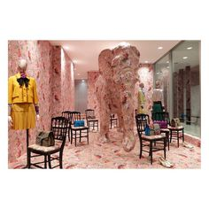 "A look inside the @doverstreetmarketginza's Elephant Room, a permanent installation at the Tokyo flagship, personalized by #AlessandroMichele with the geranium Blooms print on a blush pink background and featuring ready-to-wear and accessories including #GucciDionysus from the #GucciCruise16 collection. ""This is one of the best Elephant spaces we have ever seen. This space always works best when there is a conversation or a connection between the Elephant and what is being installed or…"