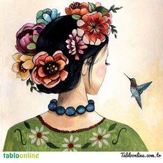 Çiçekli, renkli duvarların olsun! smile ifade simgesi Mekanlarımızı güzelleştirmek artık bir tık uzağımızda www.tabloonline.com.tr dilediğin tablo için durma, tıkla!