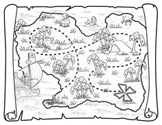 Pirate Map by umetnica