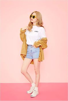 Ig: Arbil03  By Kooding Clothes from Icecream12 Korean Street Style K-POP Korean Style Street Style Casual Look Chic Wardrobe I want this Dream Look... - Street Style