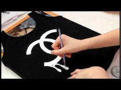 DIY: Chanel logo t-shirt - YouTube Video Tutorial; Stenciling & fabric paint method that can be used for recreating other t-shirts, including designer tees; If you want to just recreate this Chanel shirt, read the comments section for an English translation #DIY