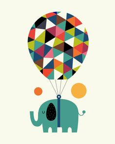 Fly high and dream big Art Print by Andy Westface | Society6