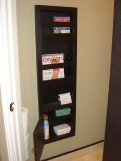 Magazine Cubbie Recessed Between Wall Studs Doing This In The Toilet Closet My Master
