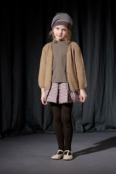 Keep your kid classy looking in what appears to be vintage children's wear... mixed and matched.