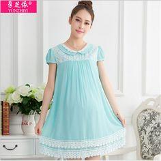68de43bd2cf 2015 new plus size maternity summer dress short sleeve fashion chiffon lace  clothes for pregnant women