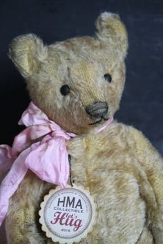 Hug Me Again collectible teddy bear by V. Galli. Traditional style and well aged.