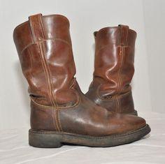 Justin Mens 7B Brown Distressed Ranch Western Roper Boots Made U.S.A.  #JustinBoots #CowboyWestern
