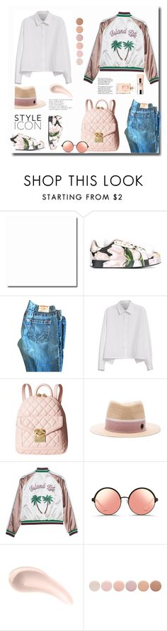 """White Cotton blouse is a must ..."" by gul07 ❤ liked on Polyvore featuring Dolce&Gabbana, Y's by Yohji Yamamoto, Love Moschino, Maison Michel, Matthew Williamson, Soap & Glory, Deborah Lippmann, Clinique and Tiffany & Co."