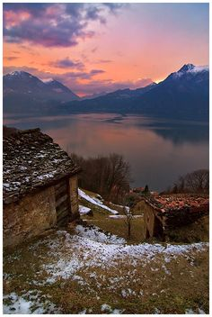 Sunset, Lake Como, Italy