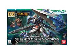Model kit - Gunpla of 00 Gundam Seven Sword/G (GN-0000/7S) from Mobile Suit Gundam 00V. 1/144 scale (High-Grade) model that must assembled (includes all snap-in parts and stickers) made of PVC material by Bandai. Includes detailed assembly instructions.