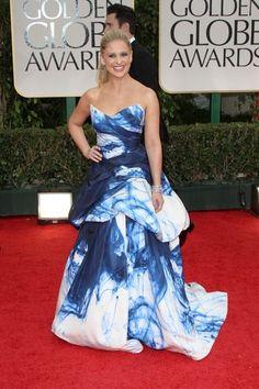 Sarah Michelle Gellar in Monique Lhuillier 2012 Golden Globes Red Carpet