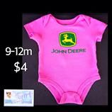 John Deere 9-12m Infant Girls Cute Pink Bodysuit $4.  Only one available in size shown. We offer FREE shipping with purchases over $30.