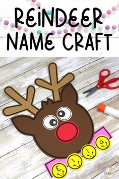 If you are looking for fun craft ideas for name practice this reindeer is such a fun activity to use during Christmas. This December craft is designed especially for Preschool and Kindergarten. The craft makes an adorable bulletin board display or decoration for classroom doors once completed. Kindergarten Crafts, Preschool Classroom, Kindergarten Classroom, Preschool Crafts, Name Crafts, Crafts To Make, Fun Crafts, Christmas Activities, Fun Activities