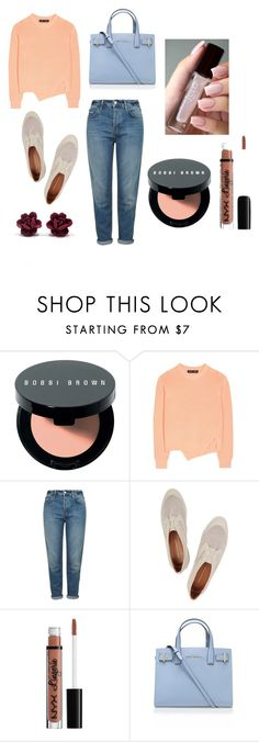 """""""Pretty as a Peach"""" by collegelifestyles ❤ liked on Polyvore featuring Bobbi Brown Cosmetics, Proenza Schouler, Topshop, Rebecca Minkoff, Kurt Geiger, women's clothing, women, female, woman and misses"""