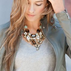A statement necklace is an instant outfit maker.