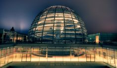 On Top of the Berlin Reichstag Night HD Widescreen Wallpaper