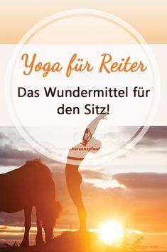 Ich LIEBE Yoga als Ergänzungssport zum Reiten. Es ist einfach perfekt für: - Deinen Sitz (es macht Dich gleichzeitig flexibel und kräftigt, dort wo Du es brauchst) - Deine Einwirkung und Balance (Deine Körperkoordination wird verbessert) - Deine Atmung (Du lernst tief und ruhig in den Bauch zu atmen, was auch Dein Pferd spürt) - Deinen Geist (Du lernst ruhig und gelassen zu bleiben und Ängste zu überwinden)