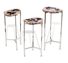 Armani Petrified Wood Drink Tables design by Interlude Home