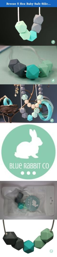Breeze 5 Hex Baby Safe Silicone Necklace, Great for Nursing, Teething and Sensory, Jewelry for Moms by Blue Rabbit Co, Chewing Bead. ABOUT THE PRODUCT *Your chew bead necklace are hand assembled and comes in a length of about 30 to 31 inches. Necklaces can be cut down to length on each end and reknotted with the clasp to fit to any size. Keep in mind, adjust the length on how you plan to use it, if its purely for nursing, make sure it won't be too short and out of reach. Don't forget to...