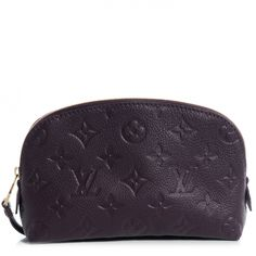 This is an authentic LOUIS VUITTON Empreinte Cosmetic Pouch in Aube.   This stylish pouch is crafted of Louis Vuitton monogram embossed empeinte leather in rich purple.