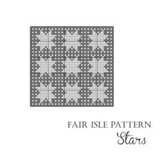 Fair Isle knitting pattern chart Stars