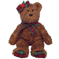 TY Beanie Baby - Happy Holidays the Bear (Hallmark Exclusive) Beanie Baby Bears, Beanie Babies, Ty Bears, Ty Babies, Baby Queen, Plush Animals, Stuffed Animals, Big Eyes, Happy Holidays
