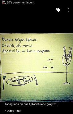 Oktay Rıfat / turkish poet / kadehimde gökyüzü