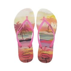6a4de78777b932 Thailand packing  The Havaiana Slim features a sleek pink strap and  Havaianas logo with their signature textured footbed that provides style  and comfort.