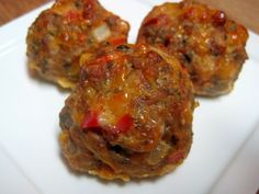 Dukan Diet Recipe - Maybe My Favorite Meatball? --- Ditch the oat bran, use full fat products