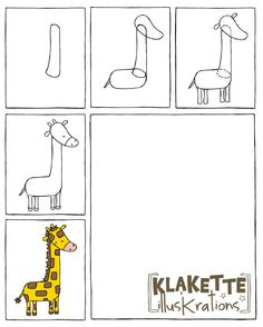* Zo teken je een giraf! Drawing For Kids, Art For Kids, Art Journal Prompts, Jungle Safari, Roald Dahl, Drawing Lessons, Step By Step Drawing, Art Classroom, Zootopia