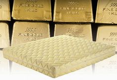 "Gold Dream: Italian mattress maker, Magniflex, is taking the concept of ""luxury sleeping"" to a whole new level with a bedding line made out of the precious metals, gold and platinum."