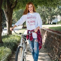 OU Fender Tee - LivyLu apparel - Vintage Style & fresh design are paired to bring you our boutique-style line of game day dresses and apparel.