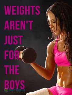 Fitness & Exercise : Weights aren't just for the boys.