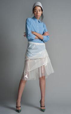 Marc Jacobs Plastic Layered Ruffle Skirt